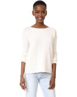 Ls Intarsia Blocked Sweater