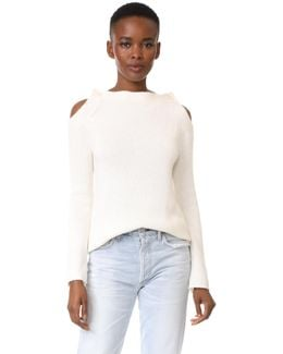 Long Sleeve Button Neck Sweater