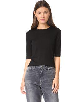 Elbow Sleeve Crew Sweater