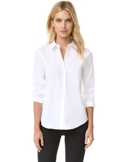 Luxe Tenia Button Down Blouse