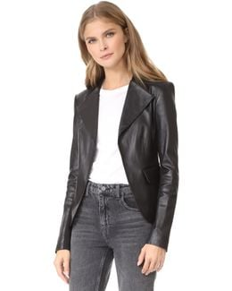 Peplum Leather Jacket