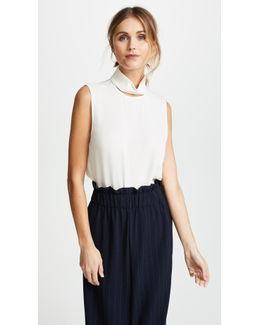 Slit Collar Top