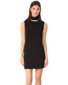 Slit Collar Dress