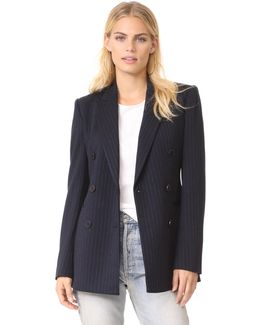 Power Pinstripe Blazer