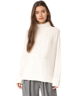 Easy Mock Neck Cable Po Sweater