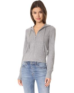 Perfect Zip Up Cashmere Hoodie
