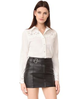 Eyelet Long Sleeve Shirt