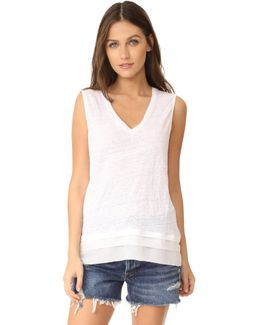 Chiffon Trimmed Top