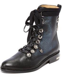 Pebbled Combat Boots
