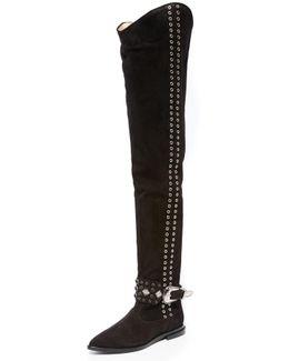 Thigh High Rivet Boots