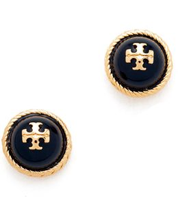 Rope Imitation Pearl Stud Earrings