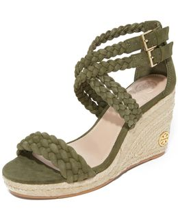 Bailey 90mm Ankle Strap Wedge Espadrilles