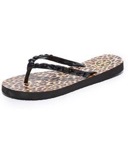 Embellished Thin Flip Flops