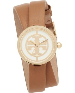 The Reva Leather Wrap Watch