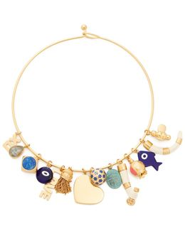 Charm Statement Collar Necklace