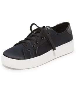 Blaire Satin Platform Sneakers
