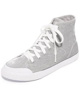 Marley Velvet High Top Sneakers