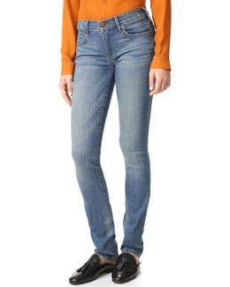 Mid Rise Cora Straight Jeans
