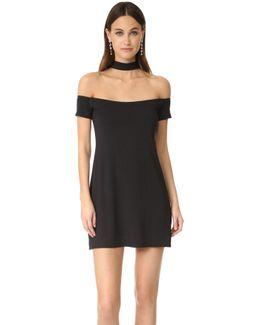 Collar Off Shoulder Dress