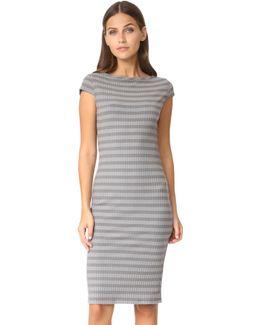 Sherbrooke Tonal Rib Short Sleeve Dress