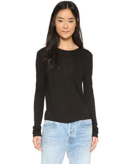 Classic Cropped Long Sleeve Tee