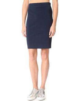 High Shine Knit Pencil Skirt