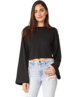 Tie Back Crop Sweatshirt