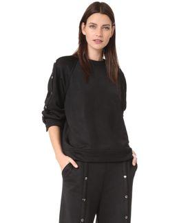 Sweatshirt With Snaps