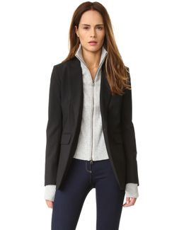 Crystal Cashmere Turtleneck Dickey