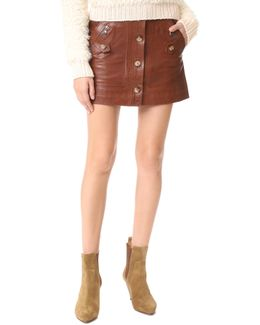 Monroe Leather Cargo Skirt