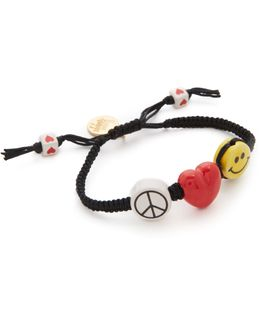 Peace Love & Happiness Bracelet