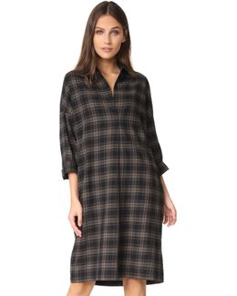 Plaid Easy Pullover Dress
