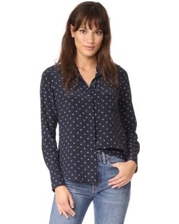 Refined Dot Slim Shirt