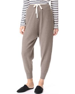 Cropped Slouch Cashmere Sweatpants