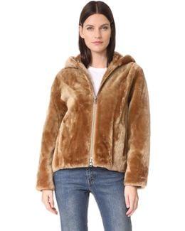 Shearling Hooded Jacket