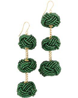 Beaded Astrid Knot Earrings