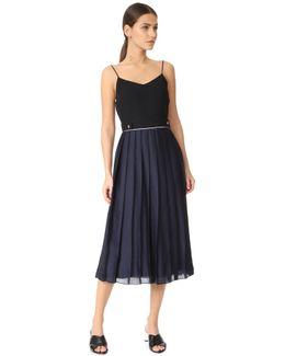 Pleat Cami Midi Dress