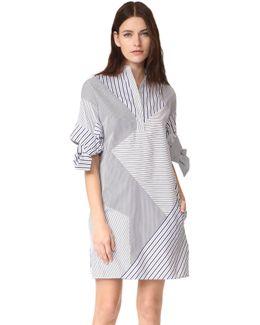 Bow Sleeve Shift Dress