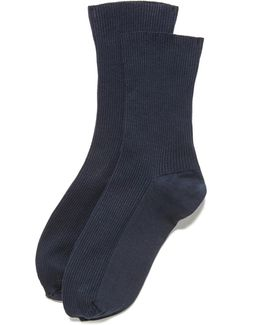 Louise Ribbed Ankle Sock