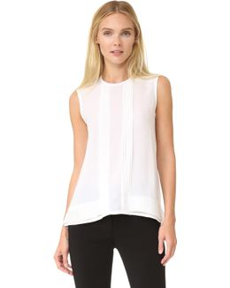 Pleat Trim Tank Top