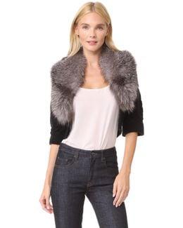 Bolero Sweater With Fur