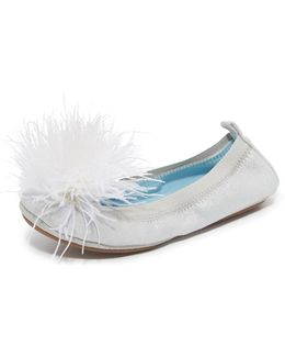 Hitched By Marry Me Marabou Flats
