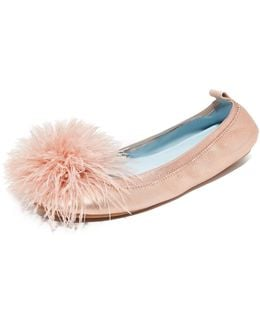 Hitched Marry Me Marabou Flats