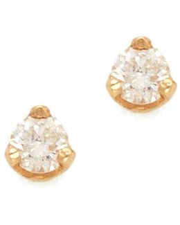 Diamond Prong Stud Earrings