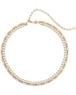 Amanda Double Chain Choker Necklace