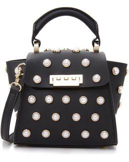 Eartha Imitation Pearl Top Handle Mini Cross Body Bag