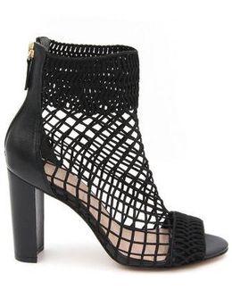 Callie Peep-toe Fishnet Ankle Boot