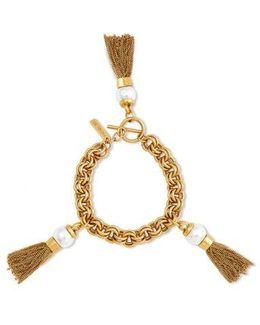 Kaylee Sphere Pendant Tassel Bracelet