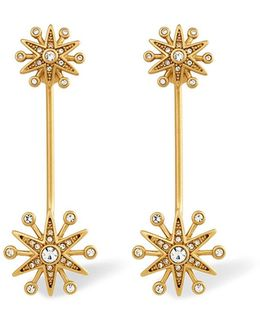 Clea Crystal Pavé Starburst Drop Earrings
