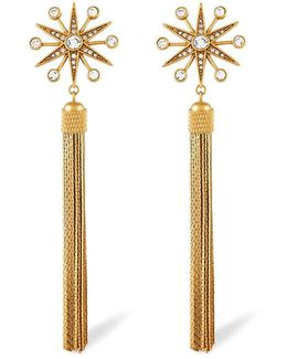 Carmela Crystal Pavé Starburst Tassel Drop Earrings